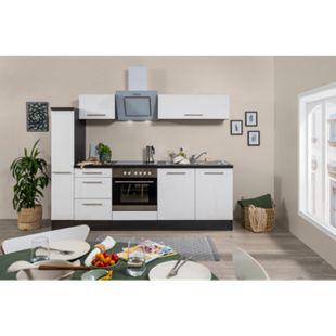 Respekta Premium Küchenzeile RP240EWC 240 cm Eiche Grau NB - Weiß - Bild 1
