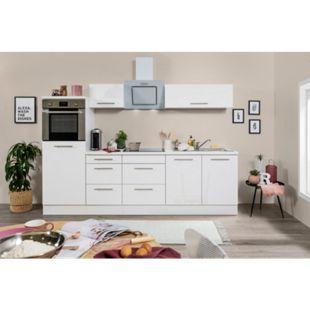 Respekta Premium Küchenzeile RP270HWWC 270 cm Weiß  - Weiß Hochglanz - Bild 1