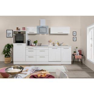 Respekta Premium Küchenzeile RP280HWWC 280 cm Weiß - Weiß Hochglanz - Bild 1