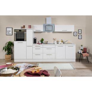 Respekta Premium Küchenzeile RP300HWWC 300 cm Weiß - Weiß Hochglanz - Bild 1