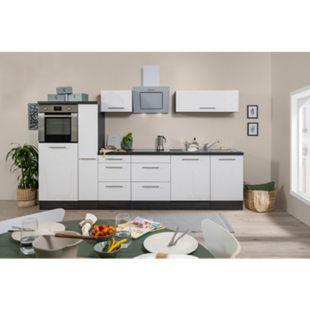 Respekta Premium Küchenzeile RP310HEWC 300 cm Eiche Grau NB - Weiß Hochglanz - Bild 1