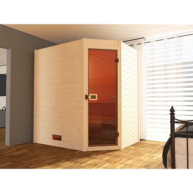 Weka Massivholzsauna Valida Eck Gr. 1 inkl. Sauna-Kompaktofen 5,4 kW - Bild 1
