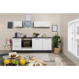 Respekta Premium Küchenzeile RP220E 220 cm Eiche Grau NB - Weiß - Bild 1