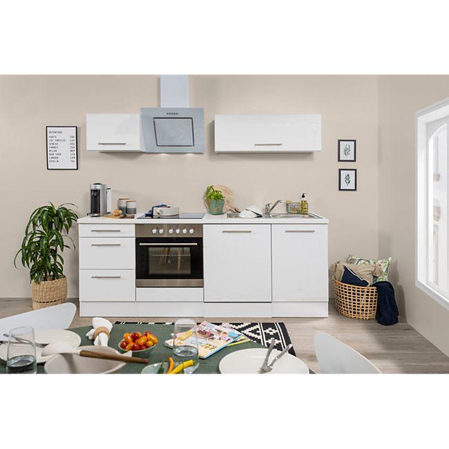 Respekta Premium Küchenzeile RP220WWC 220 cm Weiß - Weiß - Bild 1