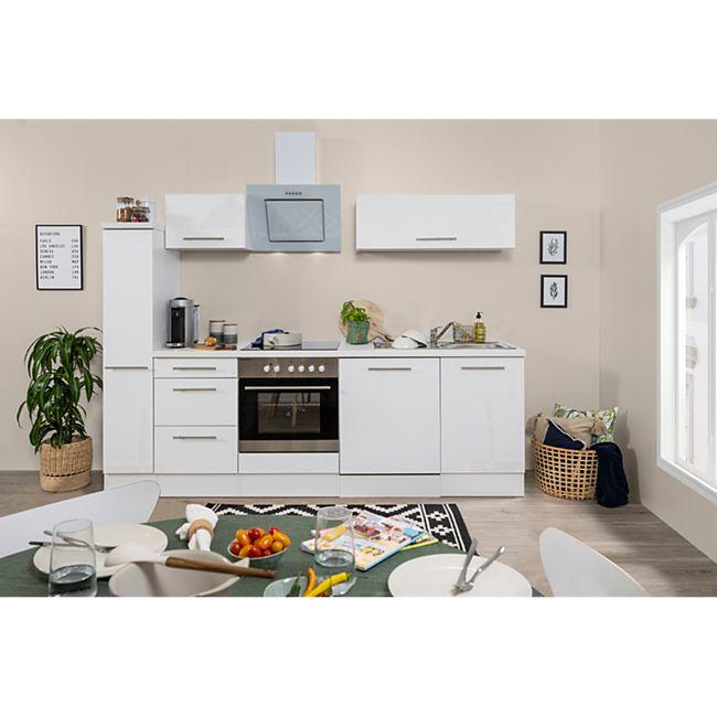 Respekta Premium Küchenzeile RP250WWC 250 cm Weiß - Weiß - Bild 1
