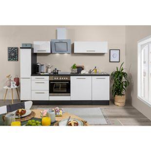 Respekta Premium Küchenzeile RP250EWC 250 cm Eiche Grau NB - Weiß - Bild 1