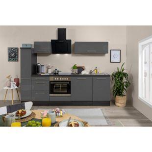 Respekta Premium Küchenzeile RP250EGC 250 cm Eiche Grau NB - Grau - Bild 1
