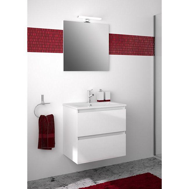 Allibert Badmöbel-Set LIVO 60 cm grifflos, Weiß glänzend - Bild 1