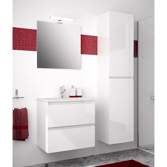 Allibert Badmöbel-Set LIVO 130 cm grifflos, Weiß glänzend - Bild 1
