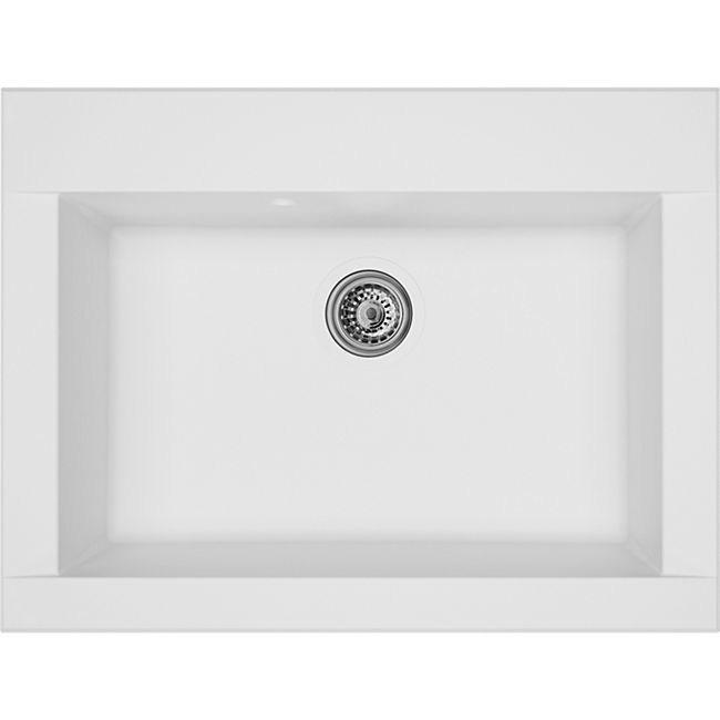 Respekta Mineralite Einbauspüle Ohio 66x50 cm - Weiß - Bild 1