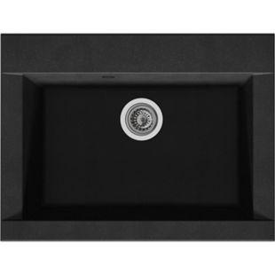 Respekta Mineralite Einbauspüle Ohio 66x50 cm - Schwarz | Küche und Esszimmer > Spülen > Einbauspülen | Respekta