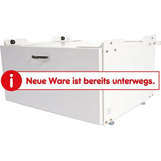 Waschmaschinenunterschrank MCW-E50, Sockel Podest Erhöhung Untergestell, Schublade 33x61x52cm ~ weiß - Bild 1
