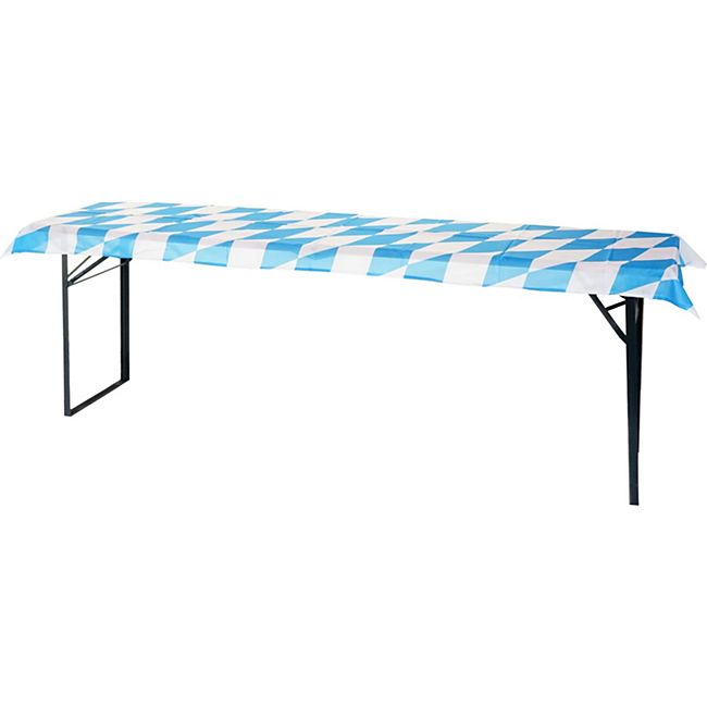 Tischdecke für Bierzeltgarnitur MCW-E60, Biertischhusse Tischhusse, bayrische Rautenoptik 228x70cm - Bild 1