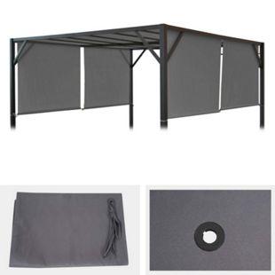 Ersatzbezug für Dach Pergola Pavillon Beja 4x4m ~ grau - Bild 1