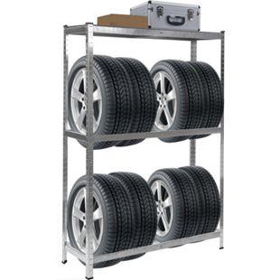 Reifenregal MCW-E36, Reifenständer Lagerregal Schwerlastregal, Tragkraft bis 795kg verzinkt 180x120x40cm - Bild 1