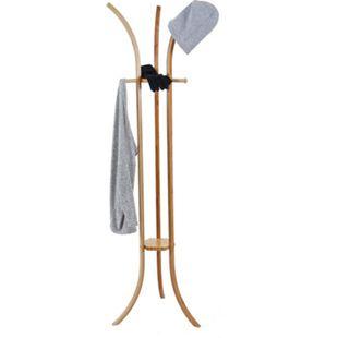 Garderobenständer MCW-D89, Standgarderobe Garderobe Kleiderständer, Holz Bambus 177x48x48cm - Bild 1