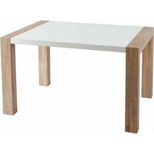 Esstisch MCW-D75, Esszimmertisch Tisch, Tischplatte hochglanz, Holzoptik 120x80x75 cm - Bild 1