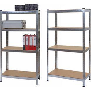 2x Schwerlastregal MCW-D67, Werkstattregal Steckregal, 160x80x40cm, Traglast jeweils 320kg ~ verzinkt - Bild 1