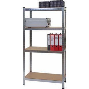 Schwerlastregal MCW-D67, Werkstattregal Steckregal, 160x80x40cm, Traglast bis 320kg ~ verzinkt - Bild 1