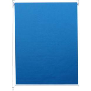 Rollo MCW-D52, Fensterrollo Seitenzugrollo Jalousie, Sonnenschutz Verdunkelung blickdicht 120x230cm ~ blau - Bild 1