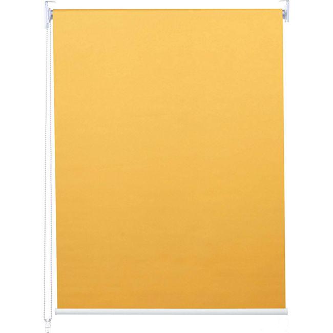 Rollo MCW-D52, Fensterrollo Seitenzugrollo Jalousie, Sonnenschutz Verdunkelung blickdicht 60x230cm ~ gelb - Bild 1