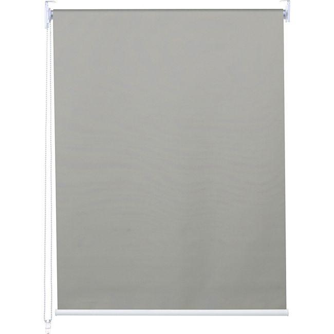 Rollo MCW-D52, Fensterrollo Seitenzugrollo Jalousie, Sonnenschutz Verdunkelung blickdicht 40x160cm ~ grau - Bild 1