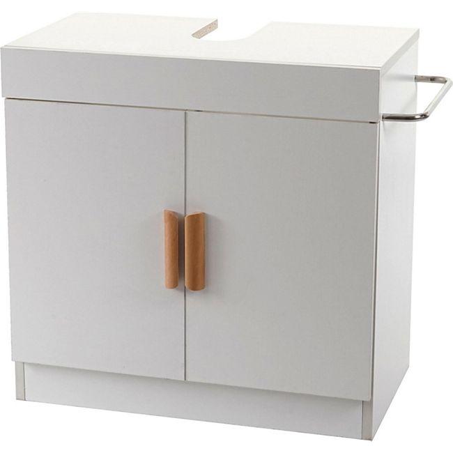 Waschbeckenunterschrank MCW-D55 Badschrank mit Staufach Badezimmer Unterschrank ~ weiß - Bild 1