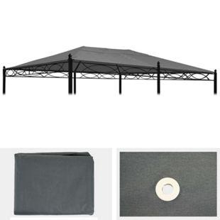 Ersatzbezug für Dach Pergola Pavillon Calpe 5x3m ~ grau - Bild 1