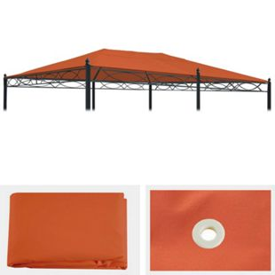 Ersatzbezug für Dach Pergola Pavillon Calpe 5x3m ~ terrakotta - Bild 1