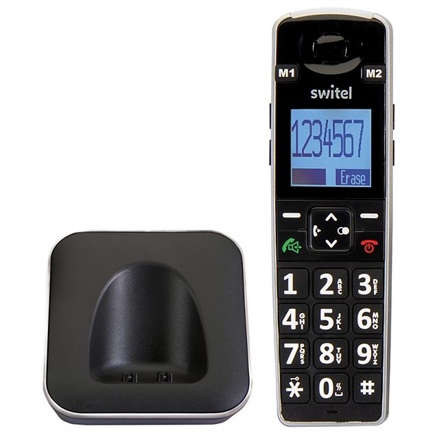 SWITEL D7010 Vita+ zusätzliches DECT Mobilteil für D7000 Vita+ und alle GAP kompatiblen DECT-Telefone - Bild 1