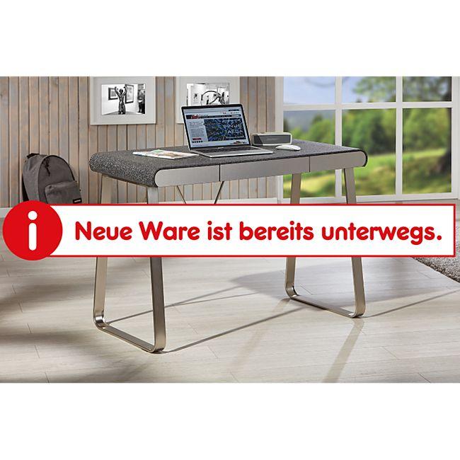 Inter Link Schreibtisch Coratini aus Stein Nachbildung und Nickel mit 3 Schubladen - Bild 1