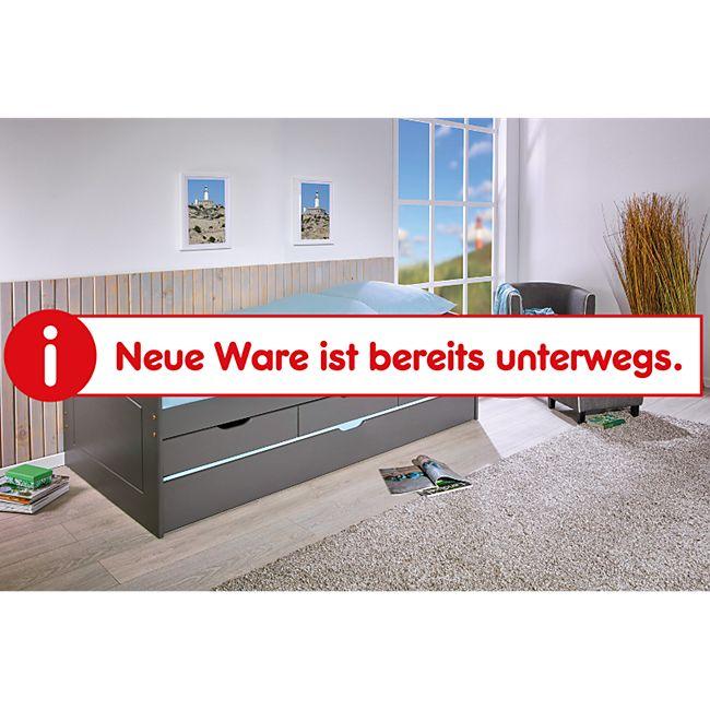 Inter Link Funktionsbett Rieka 90 x 200 cm in Grau mit 2 Liegeflächen und 3 Schubladen - Bild 1