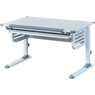 Inter Link ergonomischer Schülerschreibtisch Skalare in Weiss und Grau mit 1 Schublade - Bild 1
