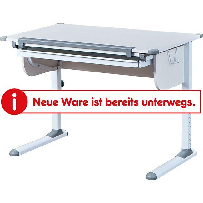 Inter Link ergonomischer Schülerschreibtisch Studare in Weiss und Grau mit 1 Schublade - Bild 1