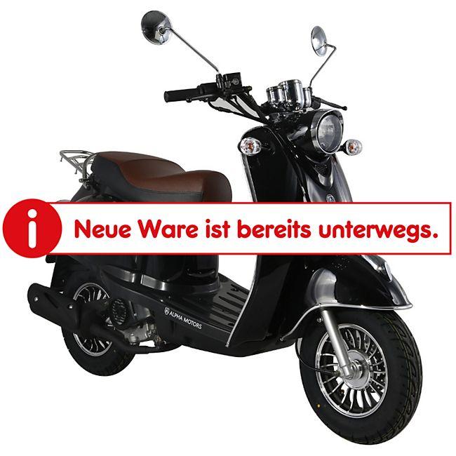 Alpha Motors Mofaroller Venus 50 ccm 25 kmh, schwarz - Bild 1