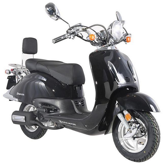 Alpha Motors Motorroller Retro Firenze 125 ccm 80 kmh schwarz - Bild 1