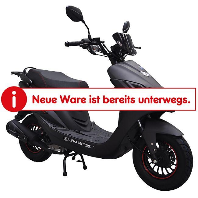 Alpha Motors Motorroller Speedster S 50 ccm 45 kmh mattschwarz - Bild 1