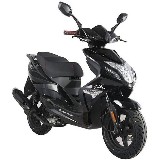 Alpha Motors Motorroller Falcon 50 ccm 45 kmh, schwarz - Bild 1