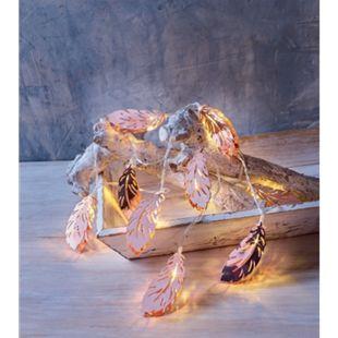 Dekor LED Lichterkette Herbst - Federn