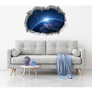 Wandtattoo 3D fluoreszierend Galaxy 70x100cm mehrfarbig - Bild 1