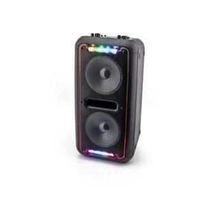 Caliber HPA502BTL tragbarer Bluetooth Lautsprecher mit mehrfarbigen LED-Leuchten, eingebauter Batterie und Karaoke Sing-Along-Option - Bild 1