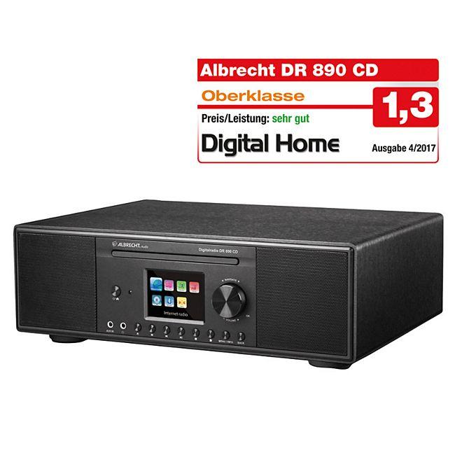 Albrecht DR890 CD/Hybridradio / Exzellenter Raumklang dank Holzgehäuse Schwarz - Bild 1