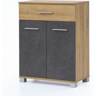 Anstellschrank mit 2 Türen und 1 Schublade Bad Kao - Bild 1