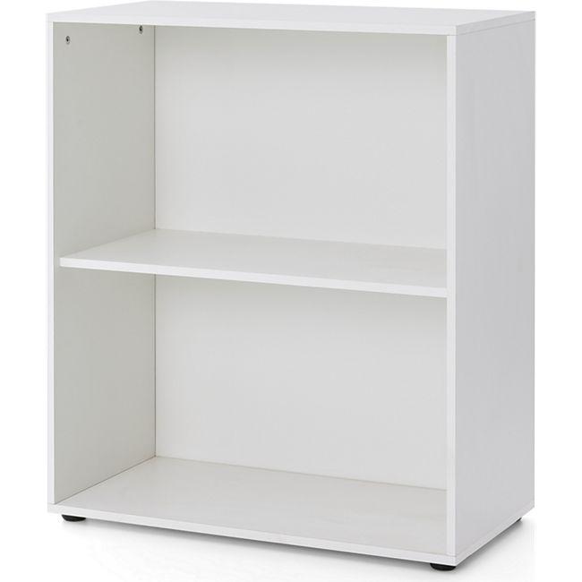 Serie Büro, Regal breit mit 2 Fächern, Weiß Dekor - Bild 1