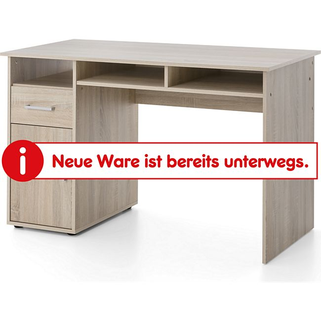 Serie Büro, Schreibtisch 125 x 60 cm, mit 1 Tür und 1 Schublade, Sonoma Eiche Dekor - Bild 1