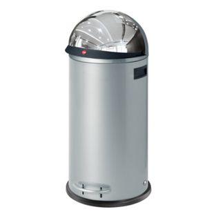 Hailo KickVisier XL Großraum-Abfallboxen, silber - Bild 1