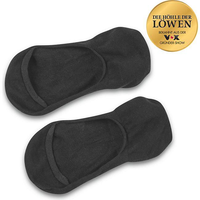 GoBunion Füßlinge mit Zehenspreizer, schwarz, Größe 35-38 - Bild 1