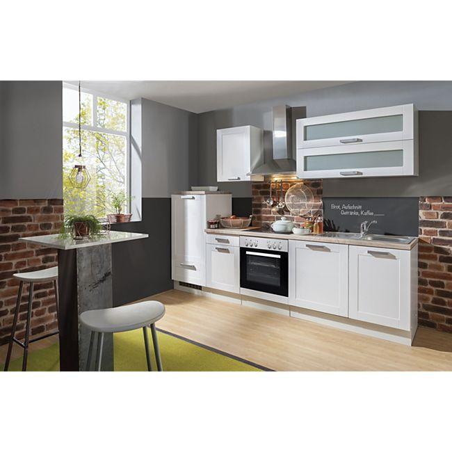 Menke Küchen Küchenzeile Premium White Landhaus 280 cm, inkl. Geschirrspüler - Bild 1