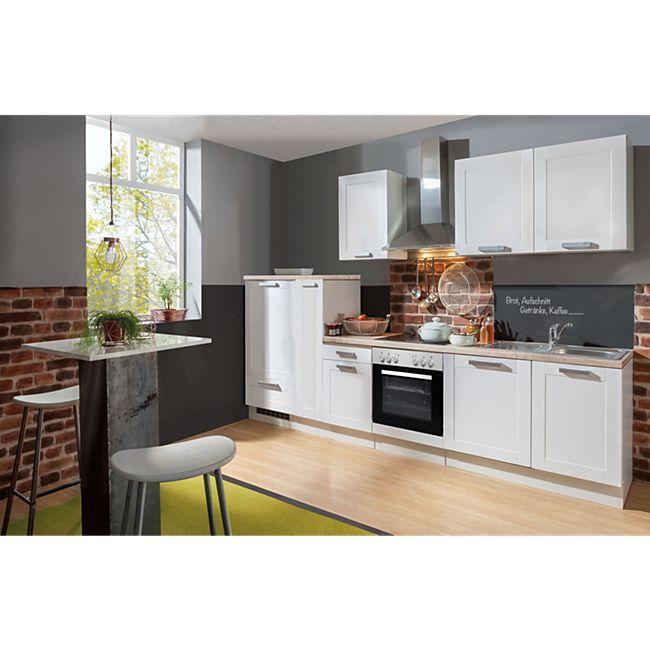 Menke Küchen Küchenzeile Premium White Landhaus 300 cm - Bild 1