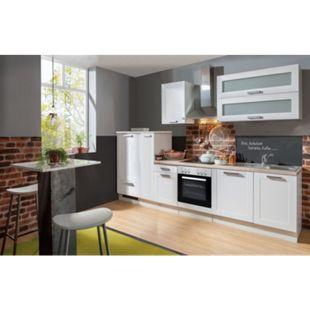 Menke Küchen Küchenzeile Premium White Landhaus 300 cm, inkl. Geschirrspüler - Bild 1